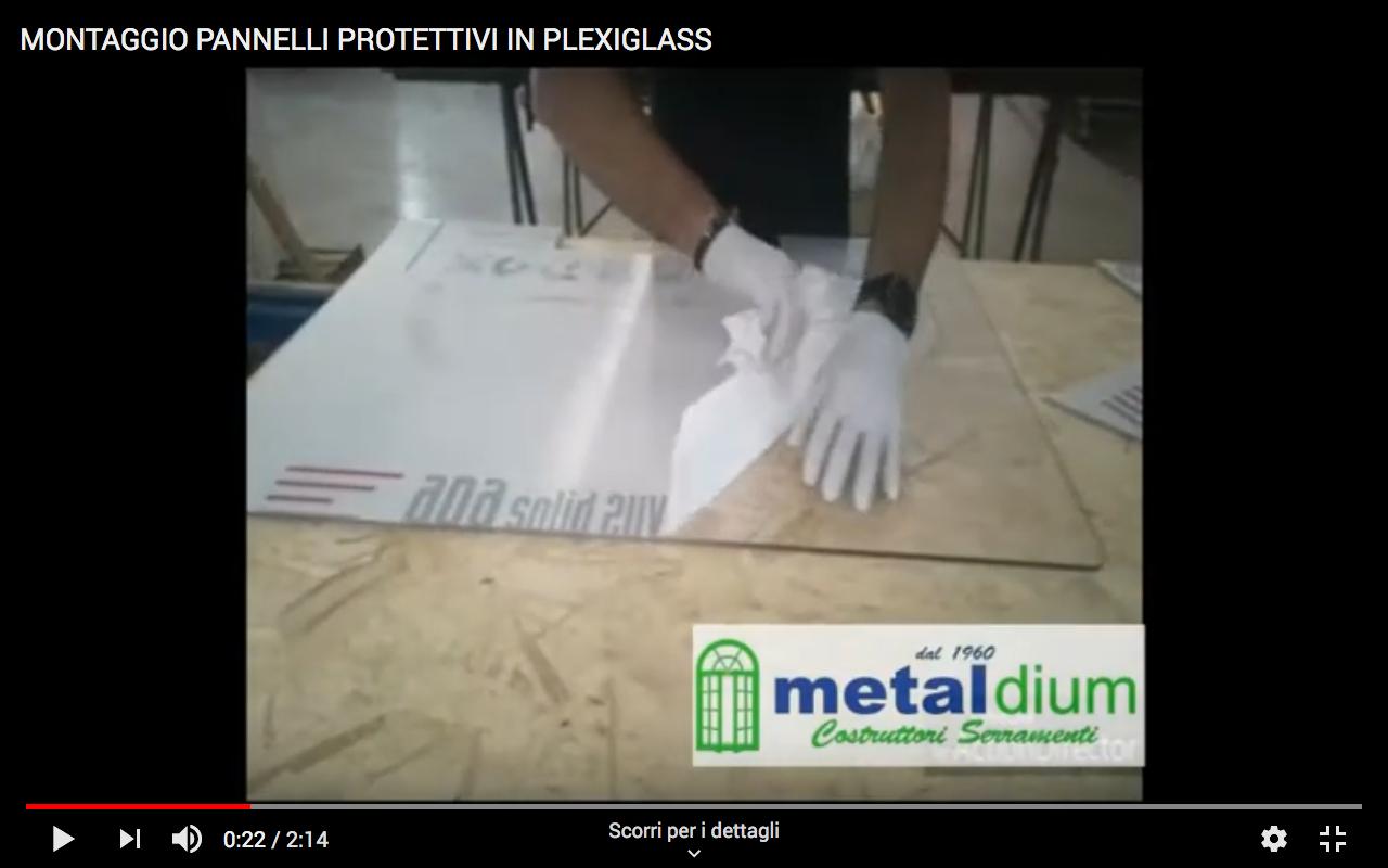 Pannelli protettivi in plexiglass Metaldium